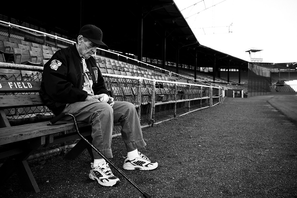 We sat on a bench along the right field line and Virgil told me a few stories about playing during baseball's golden years. He remembers them as if it were yesterday. ©2012, Randal Crow. All Rights Reserved.