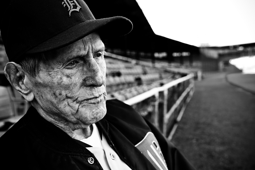 I moved away as Virgil sat quietly alternately looking out over this old ballpark, and down at the baseball in his hands. It seemed he was re-living some old memories from good times, long-ago past. That moment will always be with me. Virgil passed away March 23, 2013. ©2012, Randal Crow. All Rights Reserved.